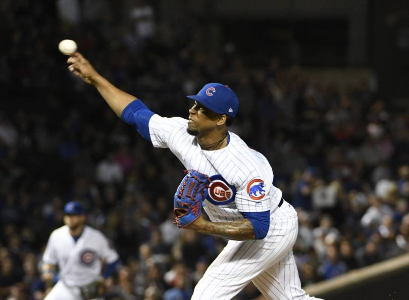 Brewers Cubs Baseball 58891 - Cubs reliever Pedro Strop to miss rest of regular season