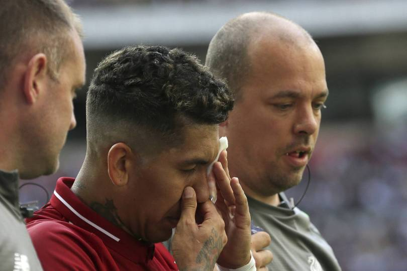 Britain Soccer Premier League 15071 - Liverpool unsure about extent of Firmino's eye injury