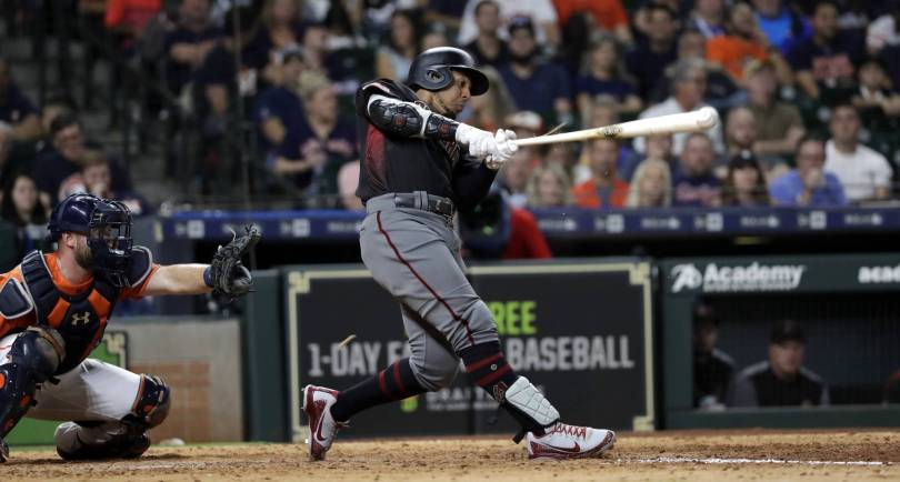 Diamondbacks Astros Baseball 99904 - Jay triples in 8th, D-backs top Astros 4-2, races tighten