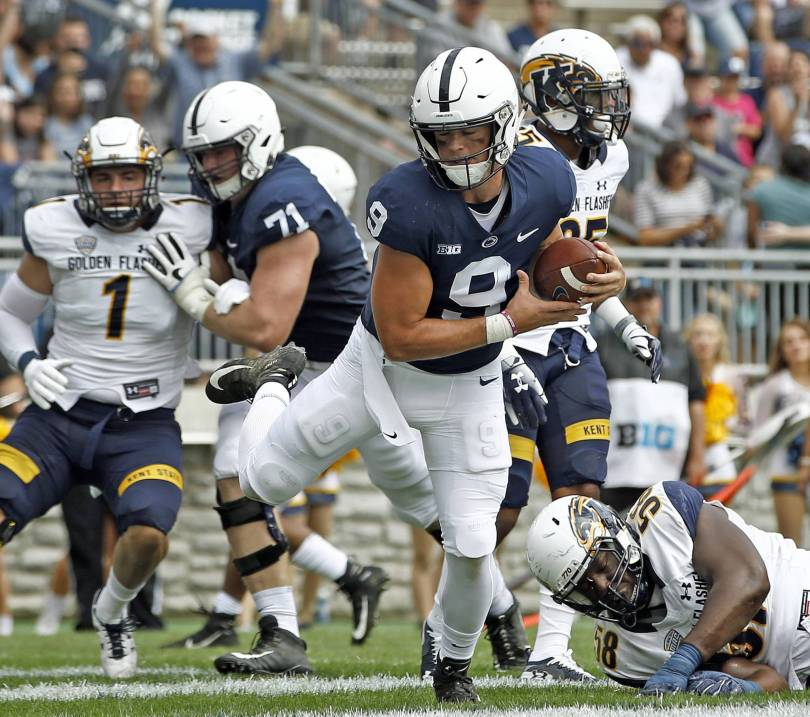 Kent St Penn St Football 58431 - McSorley's 5 touchdowns lead Penn State's rout of Kent State