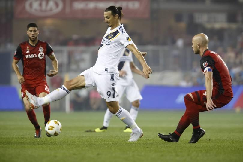 MLS LA Galaxy Toronto FC Soccer 61988 - Ibrahimovic scores 500th worldwide goal; Galaxy fall