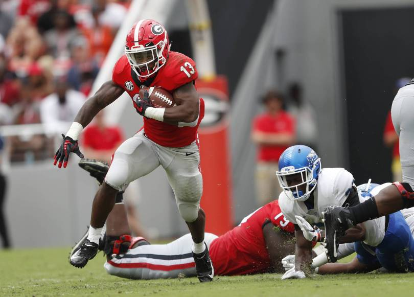 Middle Tennessee Georgia Football 01196 - Fromm leads No. 3 Georgia past Middle Tennessee 49-7