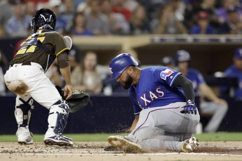 Rangers Padres Baseball 14510 - Profar, Mendez lead Rangers to 4-0 win over Padres