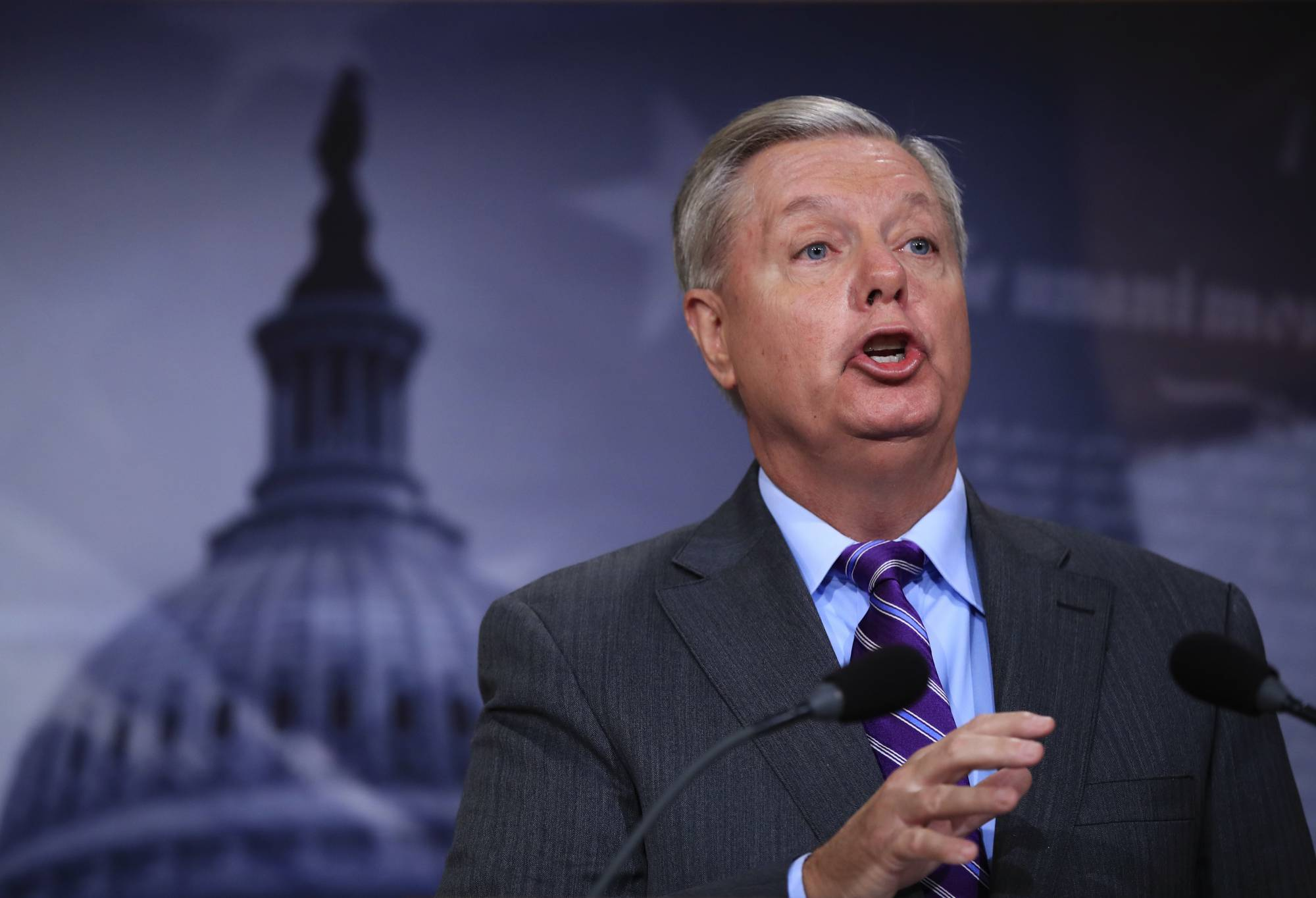 Republican Sen Lindsey Graham President Donald