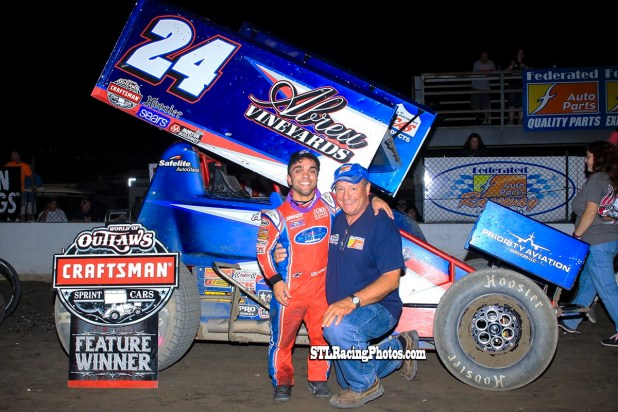 Rico Abreu with track co-owner Ken Schrader!