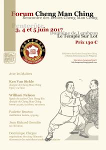 Affiche du Forum 2017 Cheng Man Ching au domaine de Lembrun