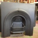Original restored cast iron arch fire grate insert $550