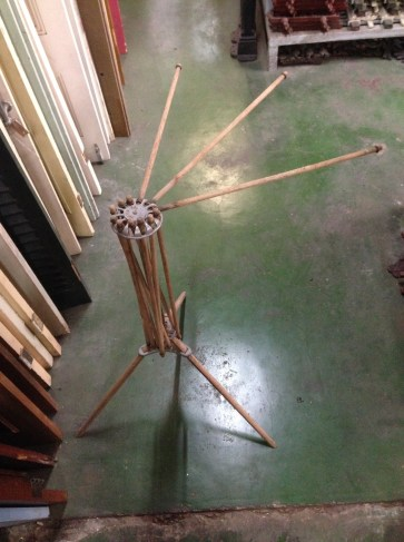 Vintage Rapid-Dri clothes drying stand, folding, rods slot into place for a 360 degree array h1060 x diam 1230mm $45