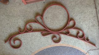 Original brackets from King William St tram poles approx. L1510mm. Two available with the short end, $220 each