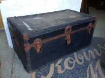 rustic old trunk, possible wood storage $30