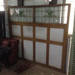 leadlight topped room divider w2060 xh1910mm $550