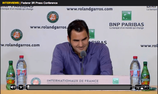 Federer Roland Garros 2013 third round press conference