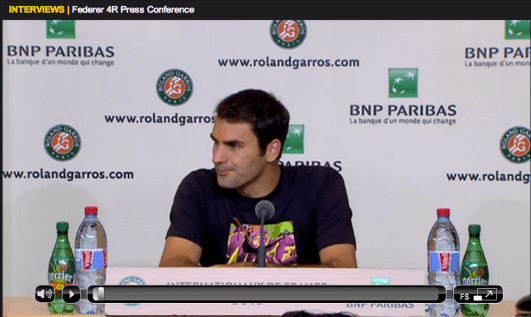 Federer Roland Garros 2013 fourth round press conference