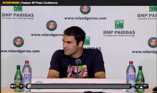 Federer Roland Garros 2013 fourth round press conference