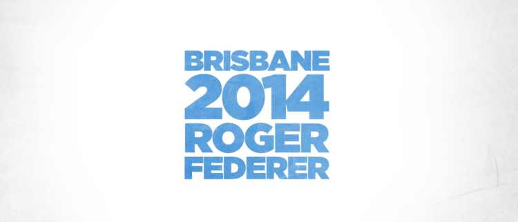 Federer Brisbane 2014