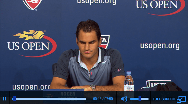 Federer US Open 2013 3rd round press conference