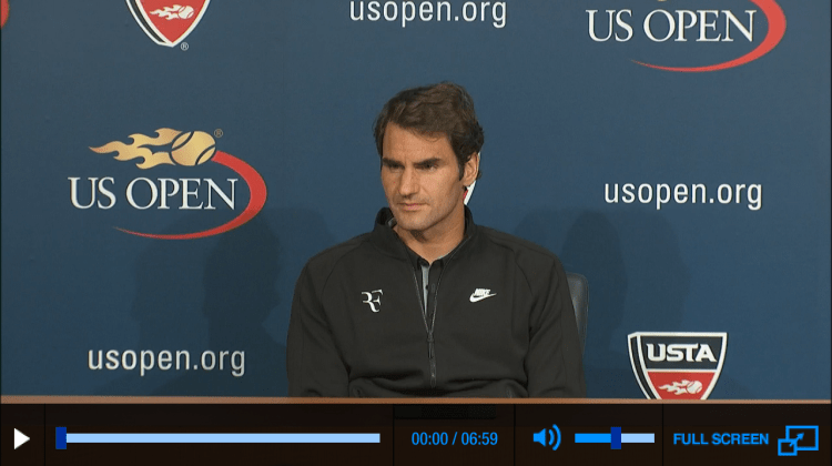 Federer US Open 2014 Second Round Press Conference