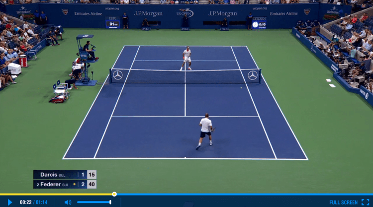 Federer US Open 2015 2nd Round Highlights