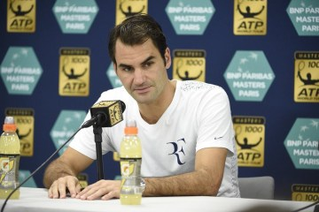 Roger Federer 2015 BNP Paribas Masters (Paris Masters) Draw
