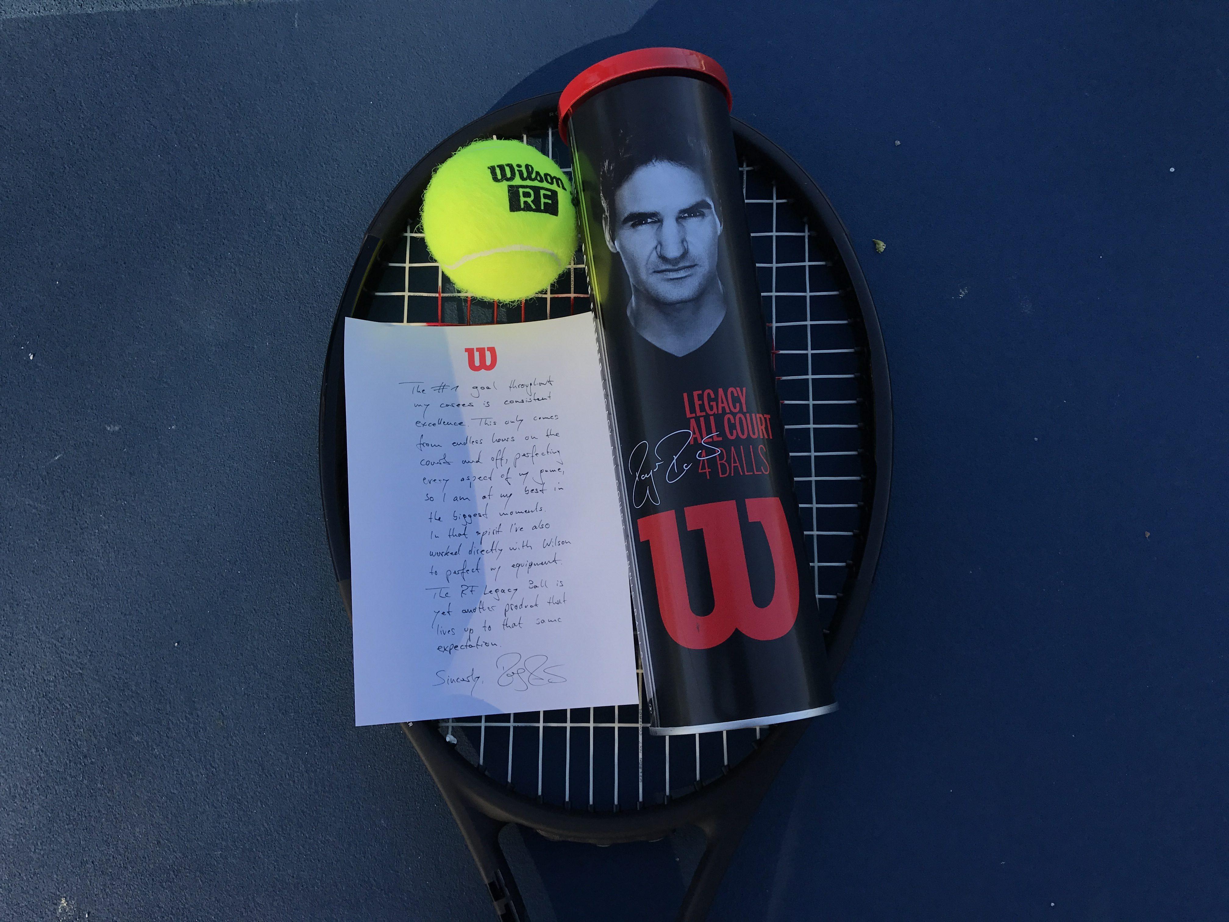 The Roger Federer Legacy Tennis Ball Fedfan