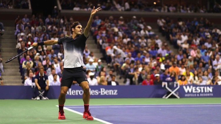 Federer Moves Past Kohlschreiber into US Open Quarterfinals