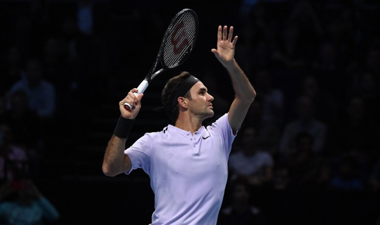 Roger Federer 2017 Nitto ATP Finals - Federer Reaches London Semifinals