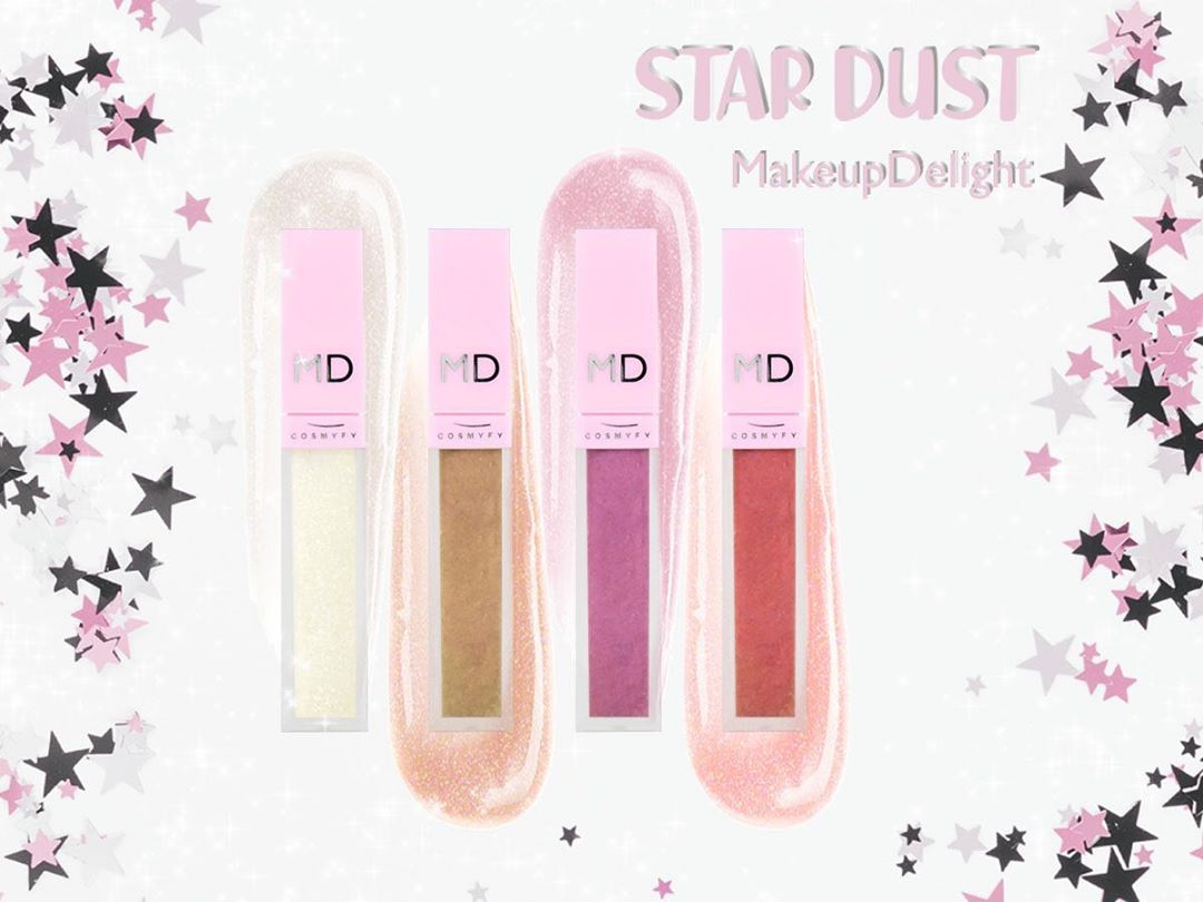 lipgloss stardust makeup delight