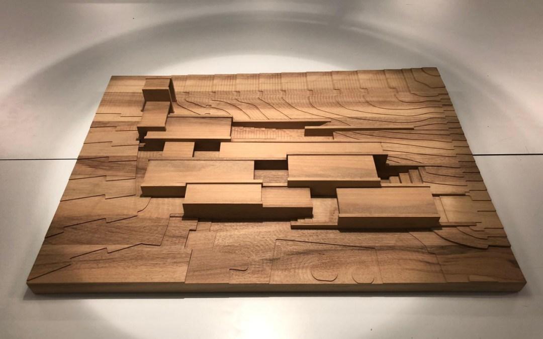 Maquette d'architecture bois massif