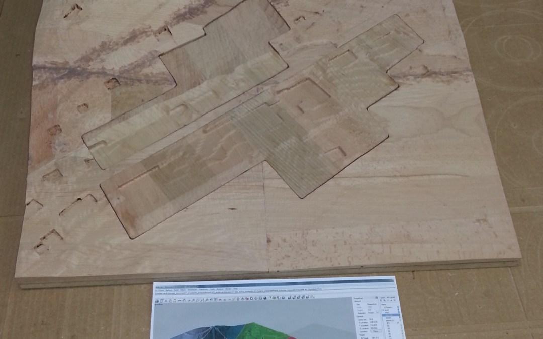 Maquette de terrain usinage CNC 3D