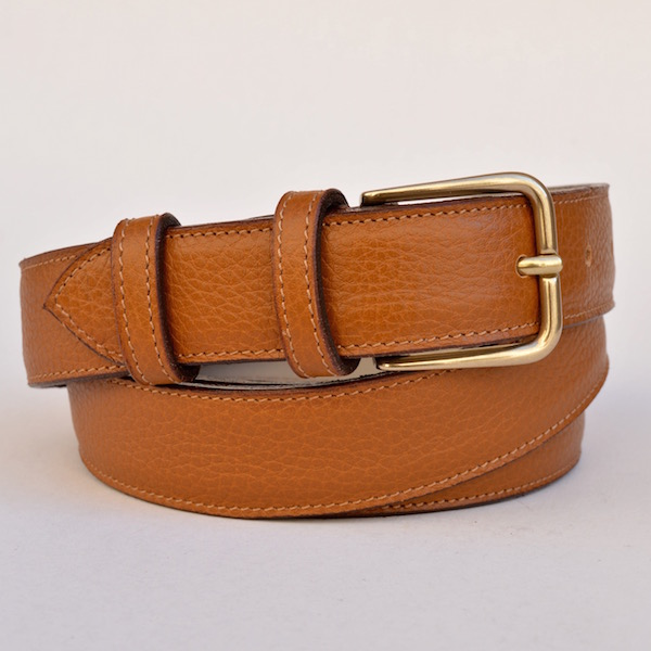 Tan Dress Belt, 3cm