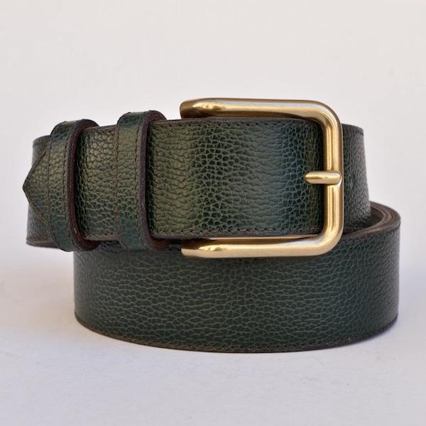 Wide Green Dress Belt
