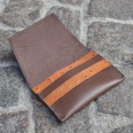 Brown & Ostrich Umbria Card Case, Open