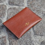 Rust & Beige Umbria Card Case, Back