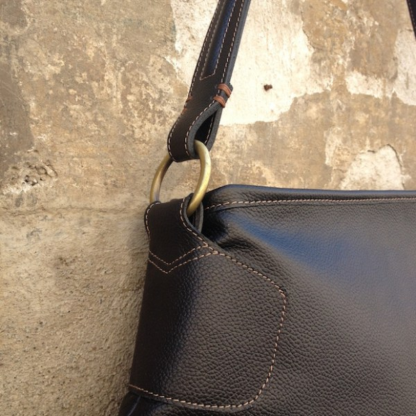 Roma Handbag, black, detail