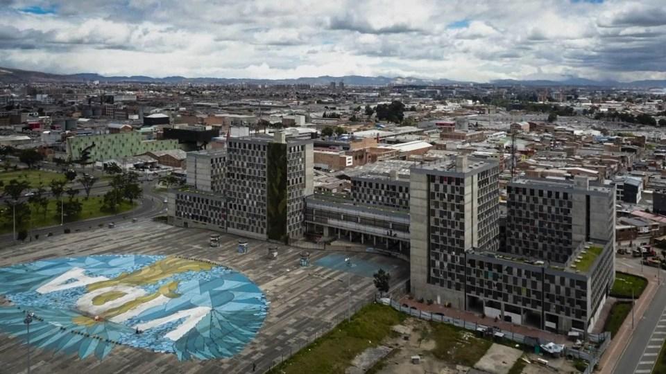 La plaza de la hoja, en Bogotá