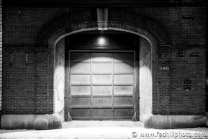 Baltimore, East Fort Avenue, Federal Hill Photography LLC, SKU-4, USA, architecture, brick, door, fire station, maryland, night, snow, urban, winter