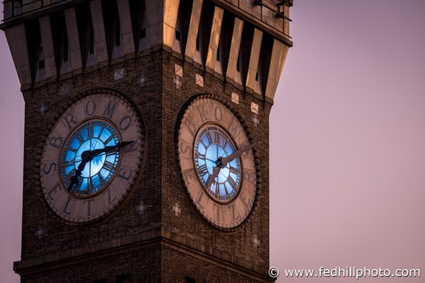 Fine art photo of Emerson Bromo-Seltzer Tower tower at sunrise in Baltimore City, Maryland.