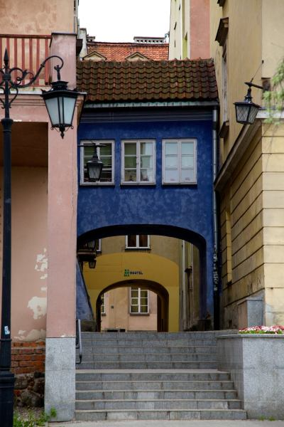 Capture this walkway while touring through the old part of Warsaw.