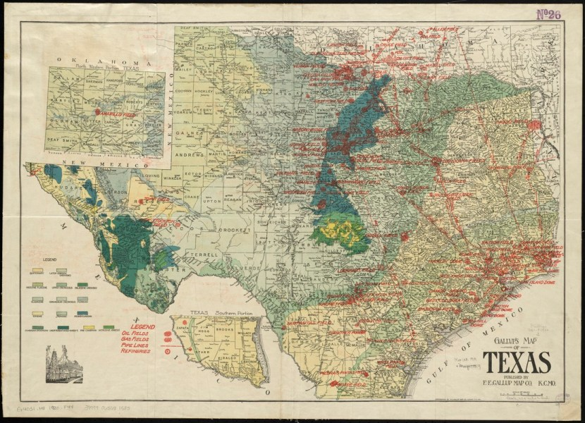 Gallup s map of Texas   Digital Commonwealth Gallup s map of Texas