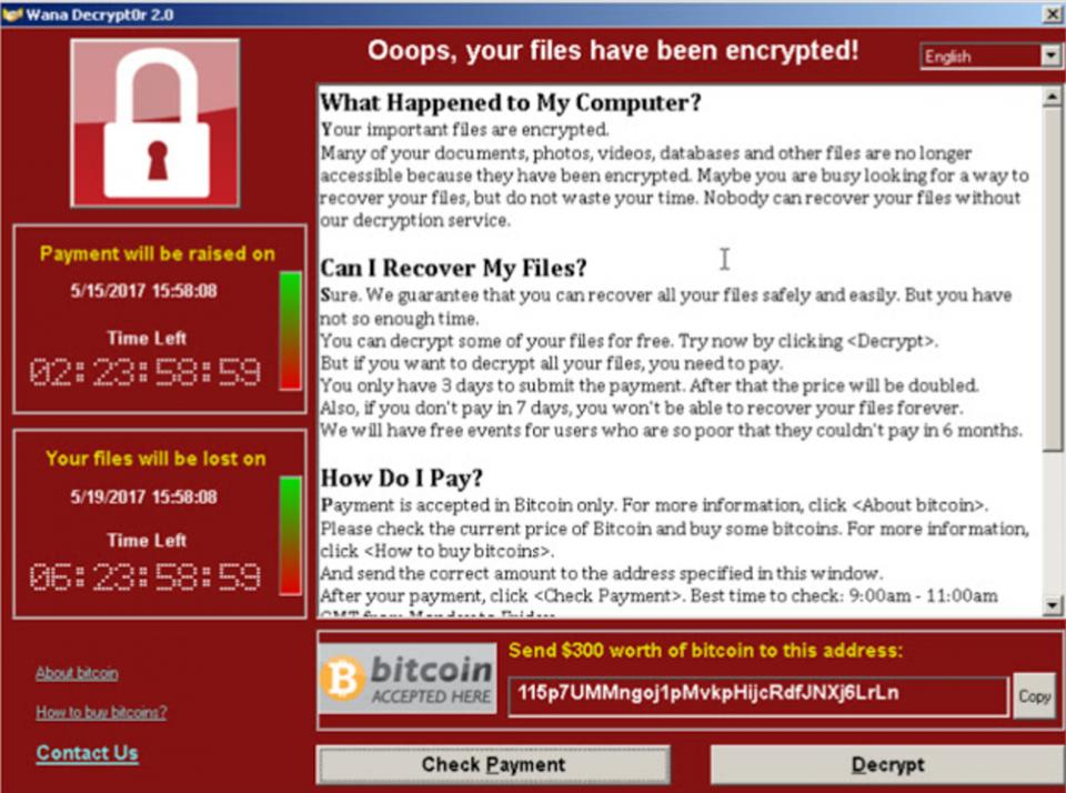 Wannacry infection screen