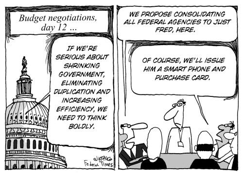 Budget negotiations cartoon
