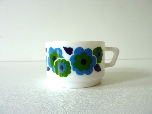 tasse à café lotus bleu