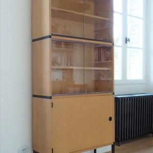 Meuble vitrine modulable Eléments Minvielle Design ARP Pierre Guariche