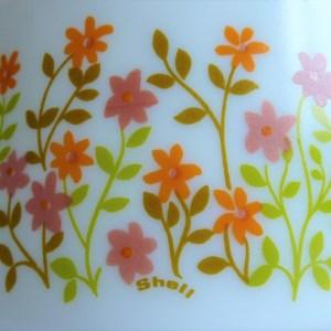 Saladier Shell petites fleurs