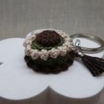 Crochet Cake Keychain