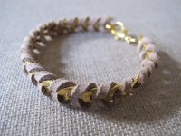 Leather chain bracelet