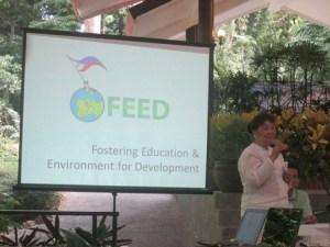 FEED Chairman Ofelia-Bakker Mananquil