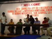 Baroro Watershed MOU Signing