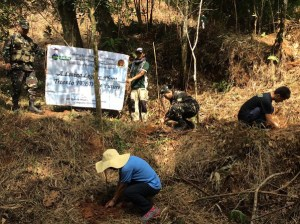 UPLB Microbiological Society (MicroSoc) Greening the Sierra Madre mountain range with the University of the Philippines Los Baños (UPLB), the Philippine Army & FEED (Siniloan, Quezon Province, 29 September 2015).