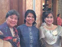 With FWN Director Josephine Jopin (centre) and co-FWN100 (2015) Awardee Niña Aguas, CEO of Insular Life Philippines (who nominated Ophie)